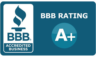 We have an A+ Rating with the Better Business Bureau