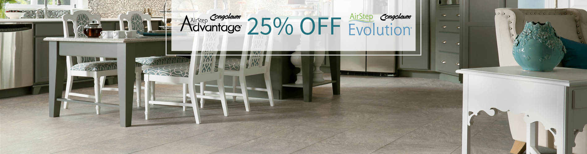 25% OFF Congoleum AirStep Advantage & AirStep Evolutions Floors!
